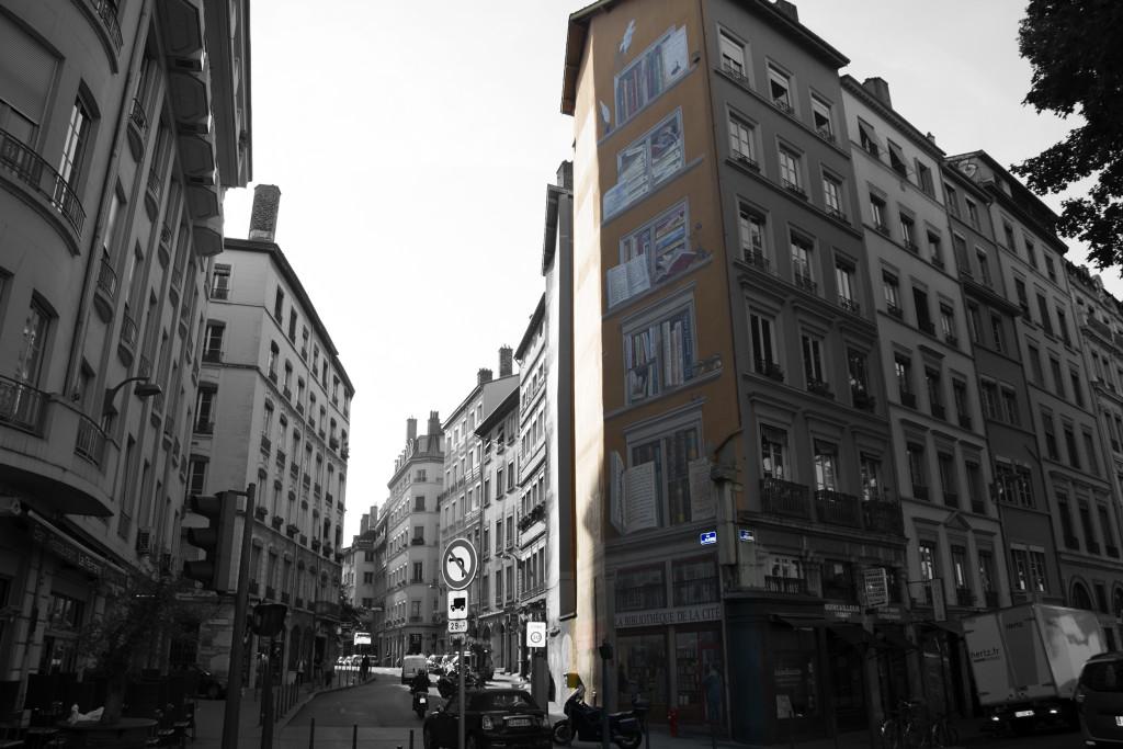 Seinämaalaus Lyonissa
