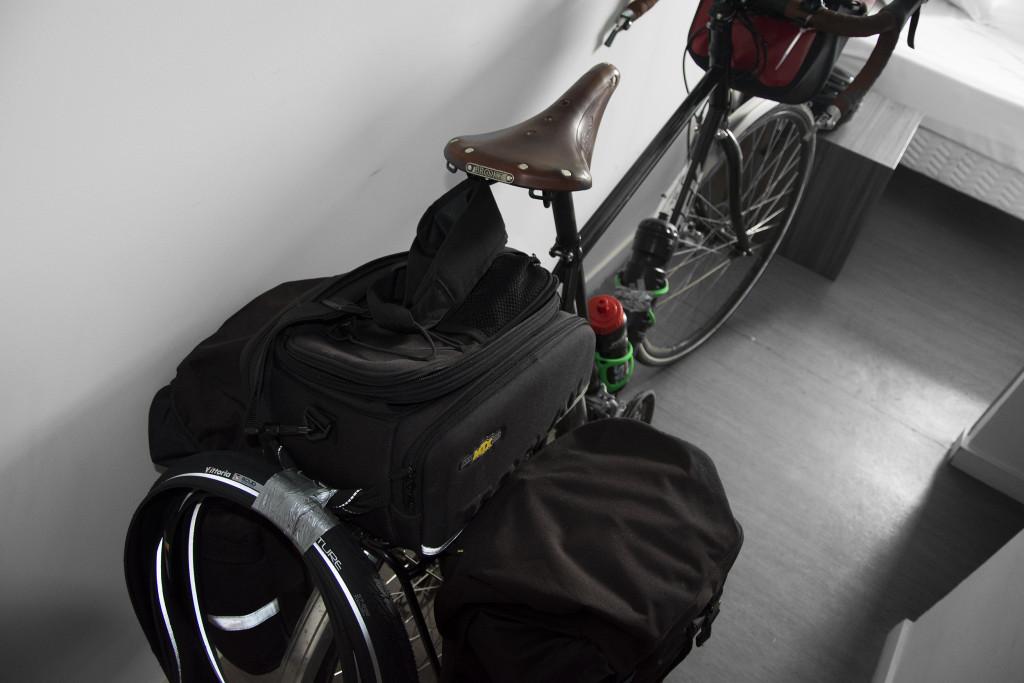 Pyörä Valencen hotellissa